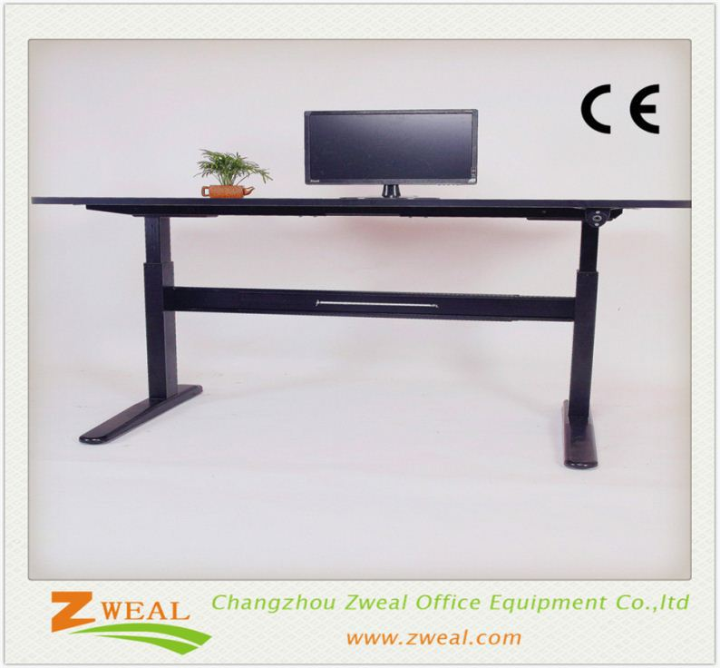 single column width adjustable height drawing table stainless steel legs
