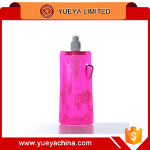 Environmental Foldable Portable 500ml Sport Water Bottle Cup Bag for Hiking