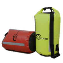 yellow pvc tarpaulin shoulder pvc dry bag for outdoor