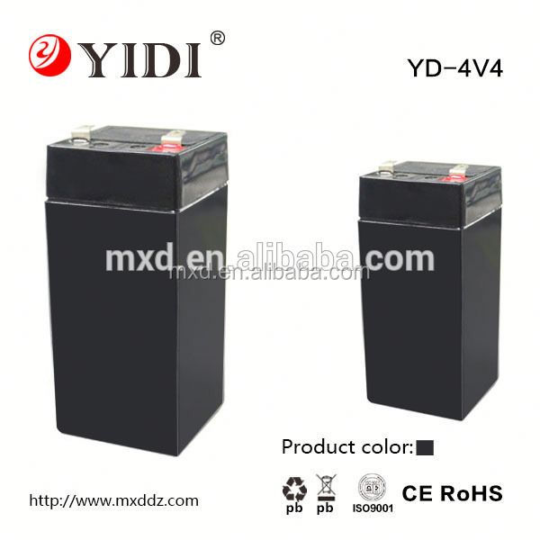 rechargeable long lifespan 4v 6v 12v 4v 20ah sealed lead acid power storage battery for led light