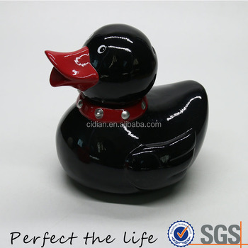 Ceramic Duck Shaped Porcelain Coin Bank Piggy Bank Money box