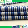 Changzhou cotton poplin navy blue and white stripe fabric