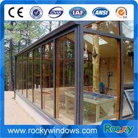 Veranda aluminum sunroom with tempered glass