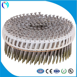 plastic collated european nail Pallet Wire Weld Screw Coil Nails Factory