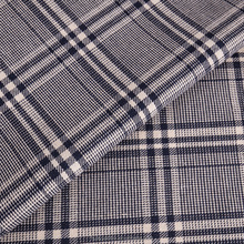 yarn dyed large check woven fabric for ladies garment
