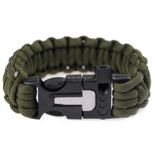 2016 New Style 550 paracord, survival paracord bracelet as military survival kit