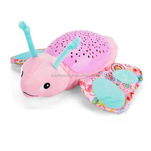 Best Selling Cute Stuffed Anima Plush Toy Baby Night Light Star Projector With Music