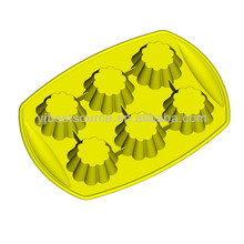 Green color silicone cake mould cookie cup