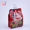 Alibaba China Eco Friendly Ice Cream Packaging Plastic Foil Pouches With Screw Cap