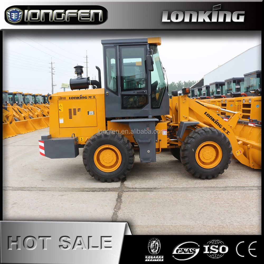 CDM818D China lonking 1.8 ton wheel loader for sale at new wheel loader price Top quality front loder