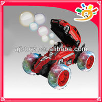 New 7CH Bubble Car Toy Blowing Bubbles RC Stunt Car with Colorful Light and Music