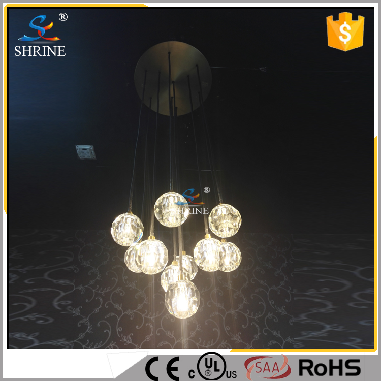 Model Bright Crystal Ball Chandelier Light String Lighting Lamp Led Model SC8561