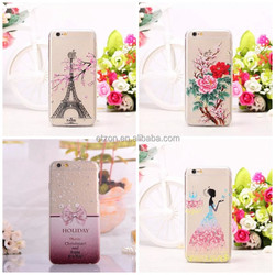 High quality Cell phone cover,TPU transparent soft Design phone cover,Mobile Phone Cover For Iphone 6/6 plus