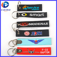 Hot Sell Customized Embroidery Promotion Keyring Remove Before Flight Keychain