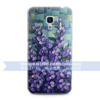 oil painting romantic lavender flower design 3D embossing cell phone case for Xiaomi mi4 mi3 cover