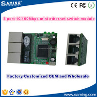 2016 Hot sale 3 Port 10/100M mini ethernet switch module factory wholesale