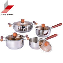 lowest price white ceramic cookware set