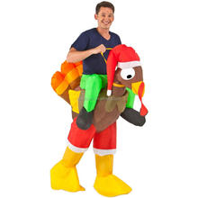 funny cute animal Inflatable Rider Turkey Adult Costume QAMC-8929