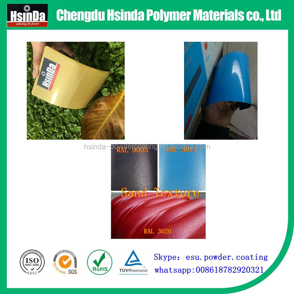 Hot selling free sample spray dielectric Thermosetting Epoxy Polyester powder coating paint