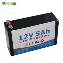 Factory Price 12V 5Ah LiFePO4 Rechargable Lithium Ion Back Up Battery Pack