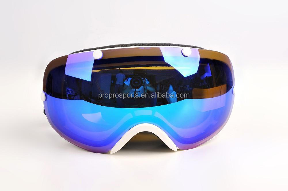 Anti-fog Big Spherical Snowmobile,Snowboard Ski Goggles Windproof and UV Protective