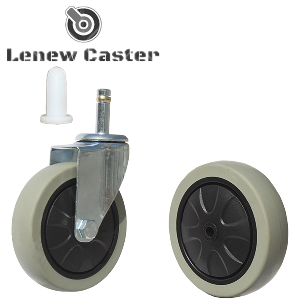 Caster wheel for dining cart