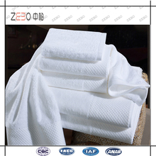 Egyptian Cotton Dobby Border Bathroom Towel Sets White Hotel Towels Wholesale