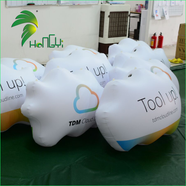 Superior Quality Promotional Floating Helium Cloud / Advertising Printing Flying Cloud Balloon 3D Model