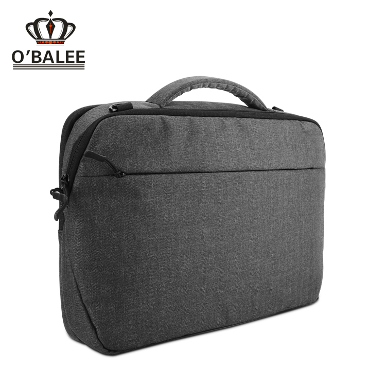 Direct from china wholesale branded men soft grey canvas eminent laptop computer bag for 14 inch