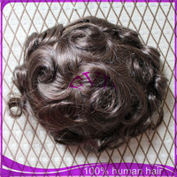 hot selling raw malaysian swiss lace with PU around hair piece toupee for black men