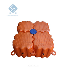 plastic water floating buoy water park facilities bule black orange grey floating dock park buoy bridge platform