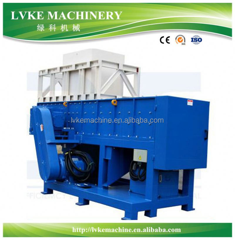 Pipe/film/bottle/tyre shredder/ABS PET PP PE recycling machine for shredder plastic price best