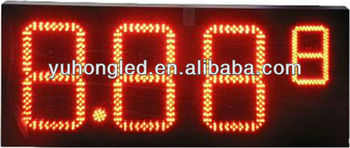 "8"" 8.889 red Color led oil display stand"