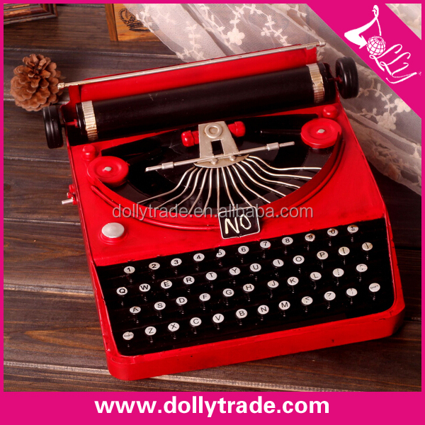 metal typewriter antique model craft decorations
