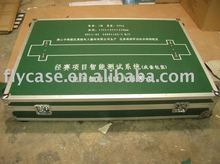2012 new design Aluminum instrument case with logo print and wheels