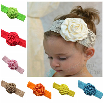 MS70028W Wholesale baby girls flower design hair band