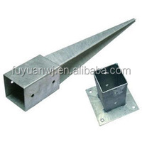 Stainless steel ground post anchor /galvanized post anchor stake