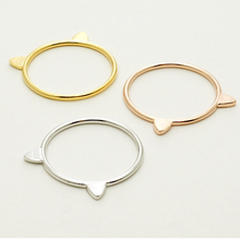 Best selling products custom fancy gold ring designs cat ear ring