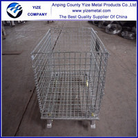 Best-selling foldable galvanized wire metal self storage cages with wheels
