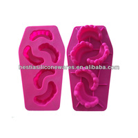 Wholesale hot selling food grade microwave oven freezer safe 5 cavities non stick silicone teeth mould ice cube tray