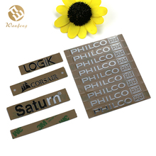 China Suppliers Custom High Quality Electroform Metal Letter Nickel Sticker