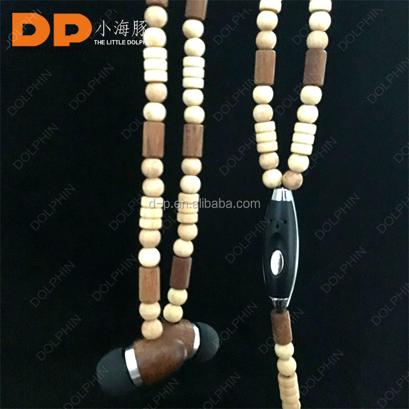 China manufacturer active noise cancelling wooden earphone in ear headphone