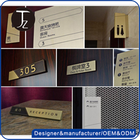 Custom design hotel signs system for hotel decoration