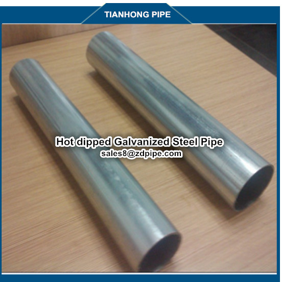 BS1387 21.3*1.8*6 Galvanized Round Hollow Section Mild Steel Pipe for irrigation