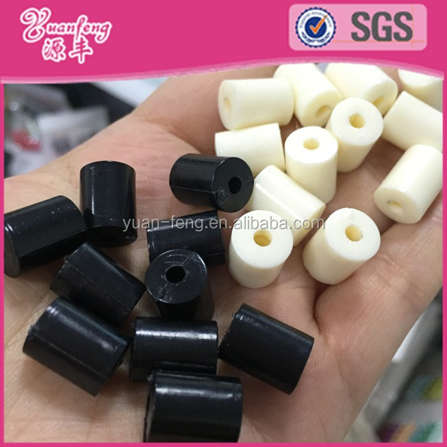 Wholesale raw material hama cylinder plastic tube beads in bulk