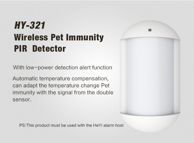 The best anti-interference PIR detector Animal immune indoor montion detectot for security alarm system