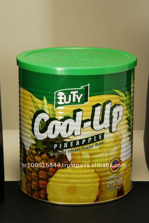 2,5 KG COOL UP PINEAPPLE INSTANT POWDER DRINK- TIN - MAKES 20 LITERS