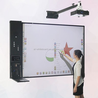 Teaching classroom interactive magnetic smart board with pens