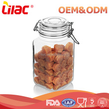 wholesale food grade borosilicate hermetic storage food square large glass jar