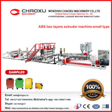 auto ABS two layers plastic sheet extruder manufacturer